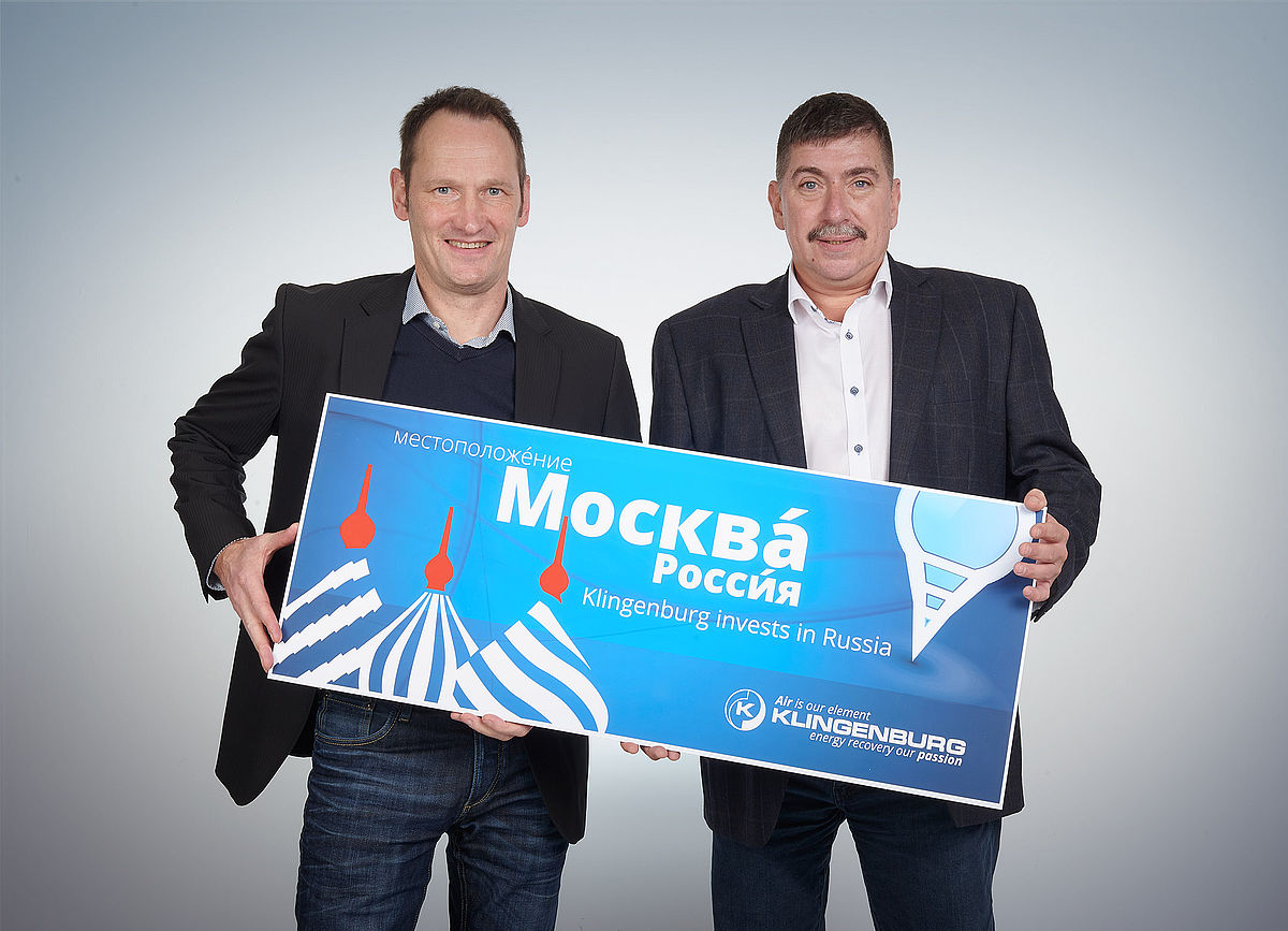 CEO Thomas Hartkämper with Eugen Kogans, General Director of the new Moscow office