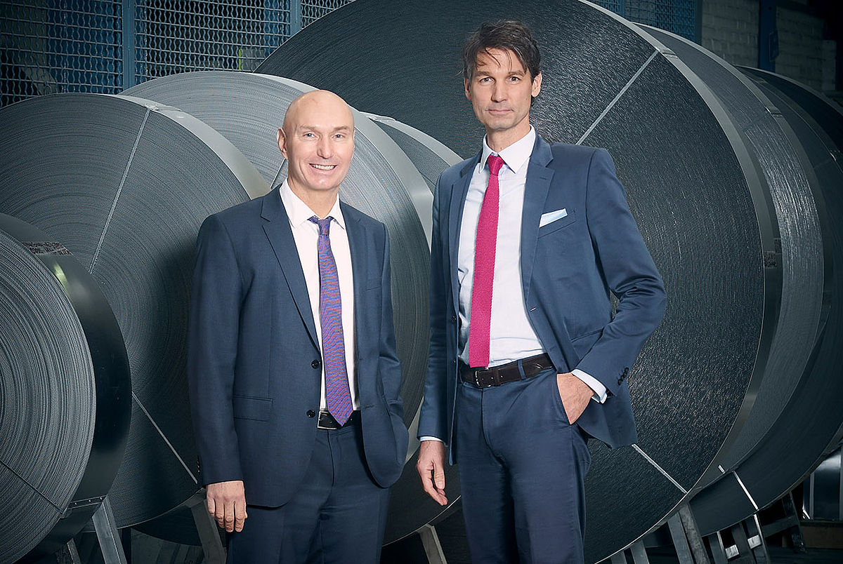 Co-partner Arndt Klingenburg and CEO Rolf. F. Oberhaus